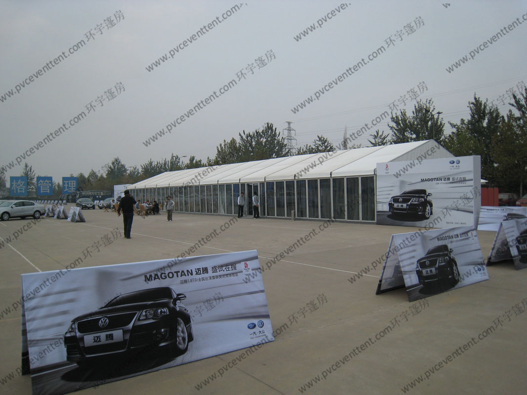 8x40m Heavy Duty Big Aluminum Outdoor Event Tents with White Roof Covers u0026 Glass Sidewalls for Car Show & 8x40m Heavy Duty Big Aluminum Outdoor Event Tents with White Roof ...