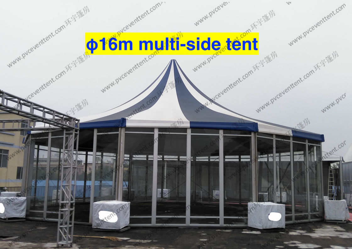 PVC Fabric Polygon Tent Multi - Side  ISO 9001 Approved Pagoda Canopy Tent & PVC Fabric Polygon Tent Multi - Side  ISO 9001 Approved Pagoda ...