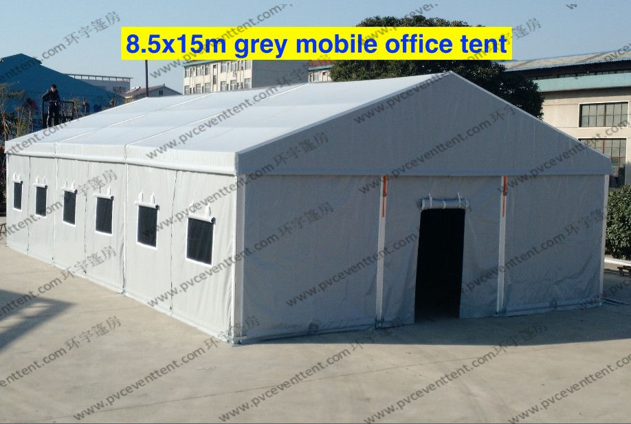 Emergency Gray PVC Military Army Tent 8 5 x 15m With Rolling