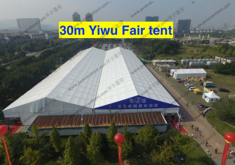 30m Clear Span Width Outdoor Exhibition Tents , White Aluminum Frame