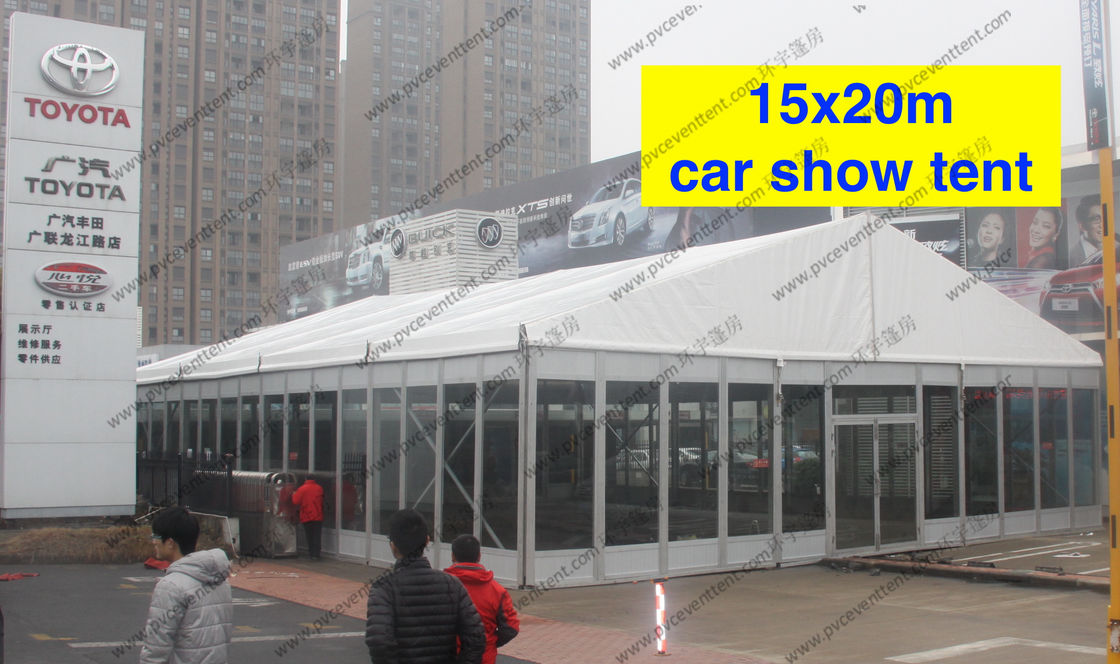 China Outdoor Exhibition Tents 15 x 20m  PVC Fabric Roof Exhibition Canopy Glass Walls supplier & Outdoor Exhibition Tents 15 x 20m  PVC Fabric Roof Exhibition ...