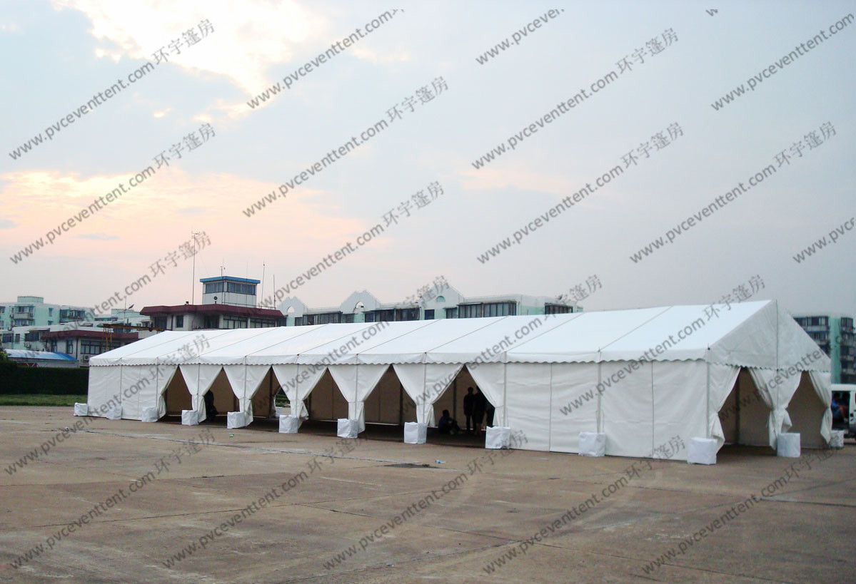 6*30M Temporary Aluminum Frame White PVC Cover  Outdoor Canopy Tent for Exhibition / Party / Event etc