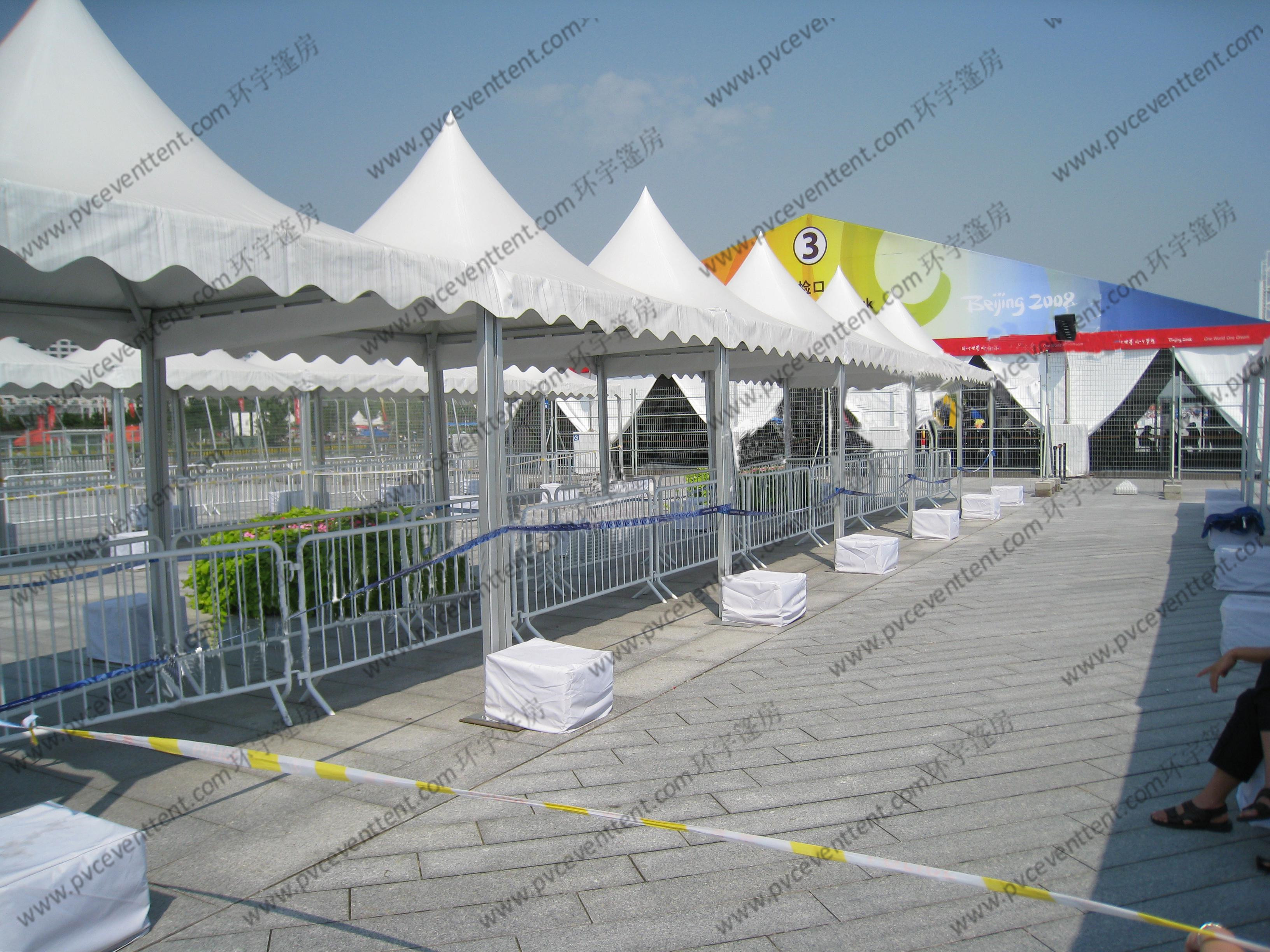 Transparent Luxury High Peak Tents , Mini Pagoda Canopy With PVC Windows / Sidewalls