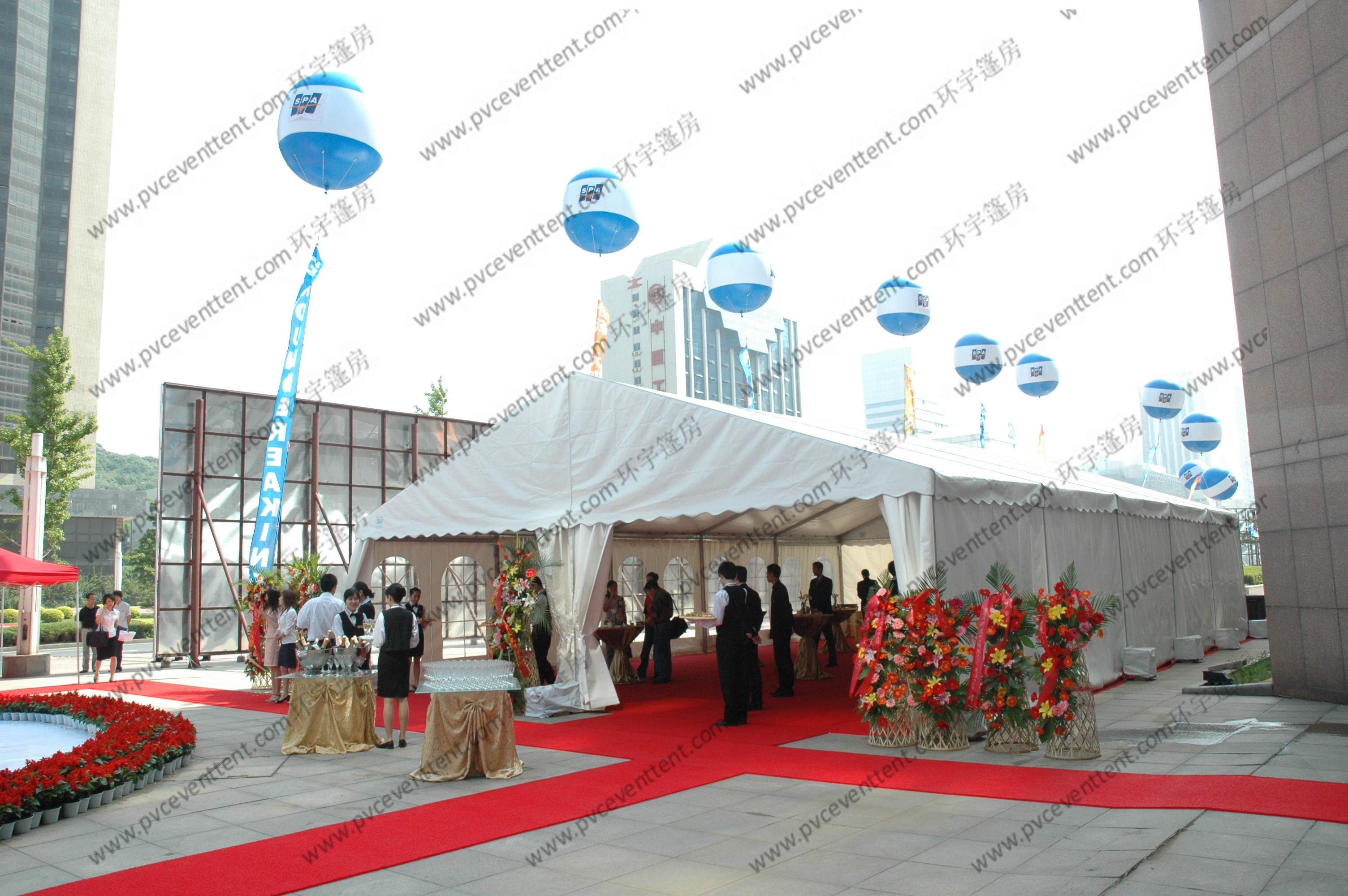 White PVC Cover Outdoor Event Tent Movable Church Windows For Cocktail Party