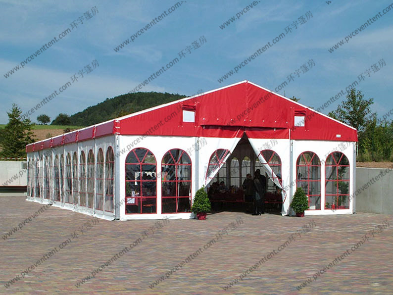 Colorful Waterproof Alumunium PVC Tent  Plain White Sidewalls for  Party