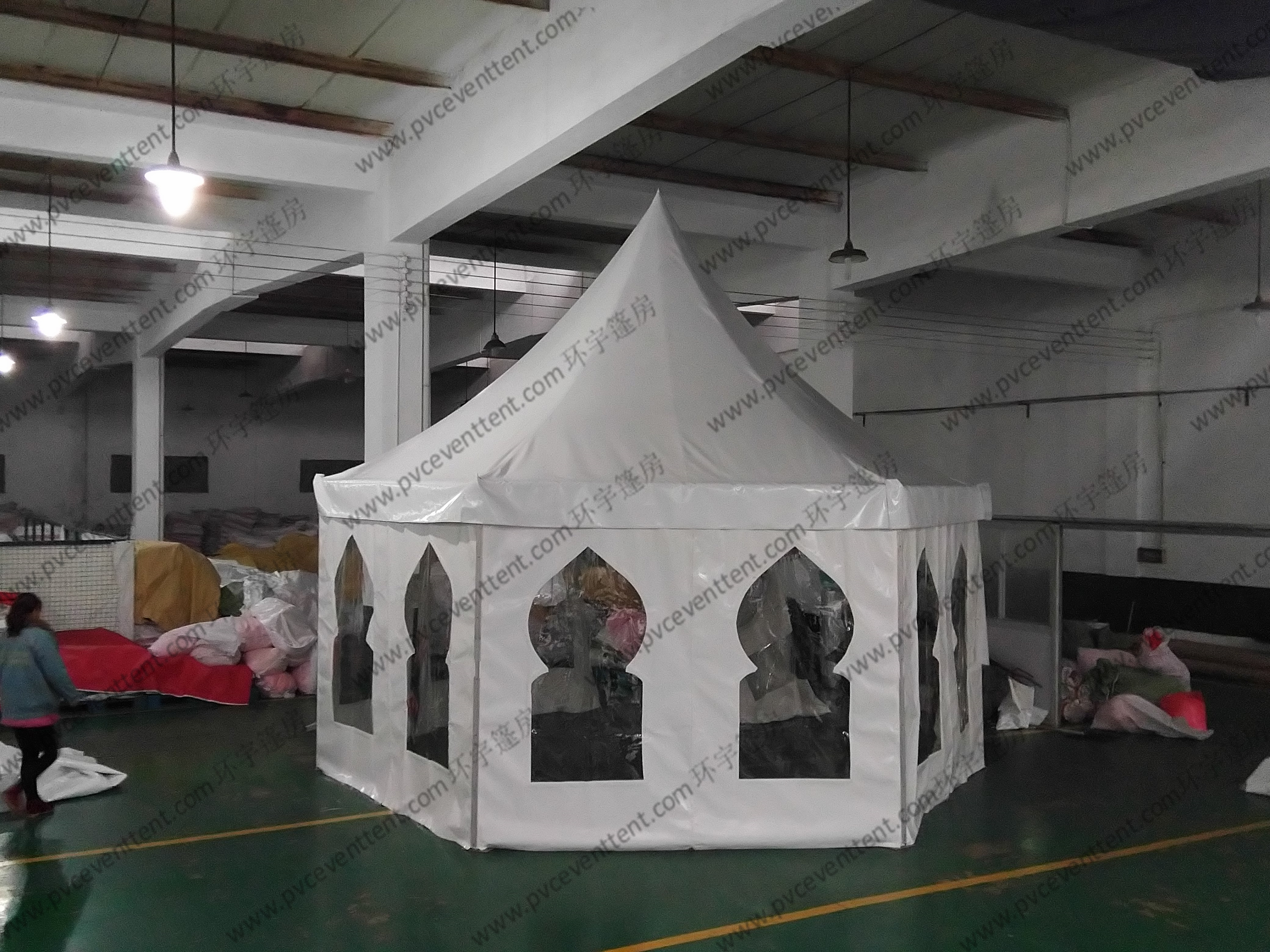 Aluminum Waterproof Pagoda Party Tent , High Peak Tents With Muslim Windows