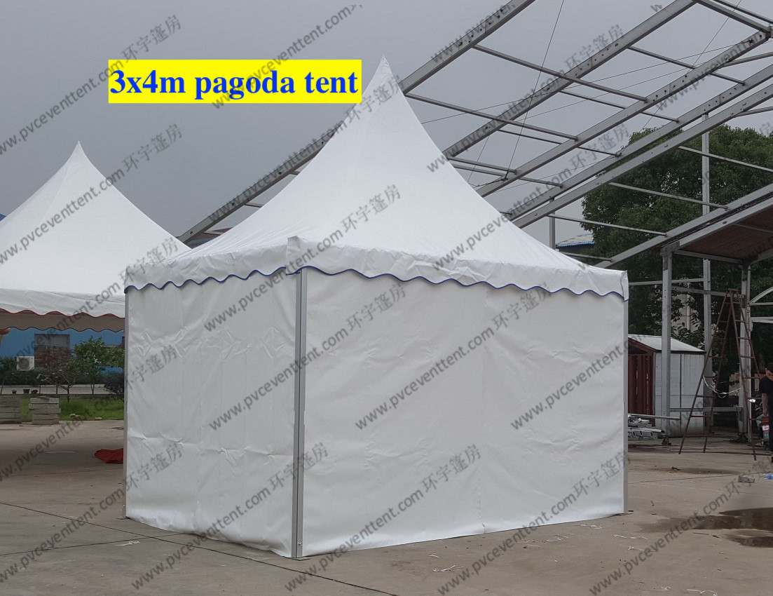 Customize White High Peak Tents PVC Cover Temporary For Exhibition Shows