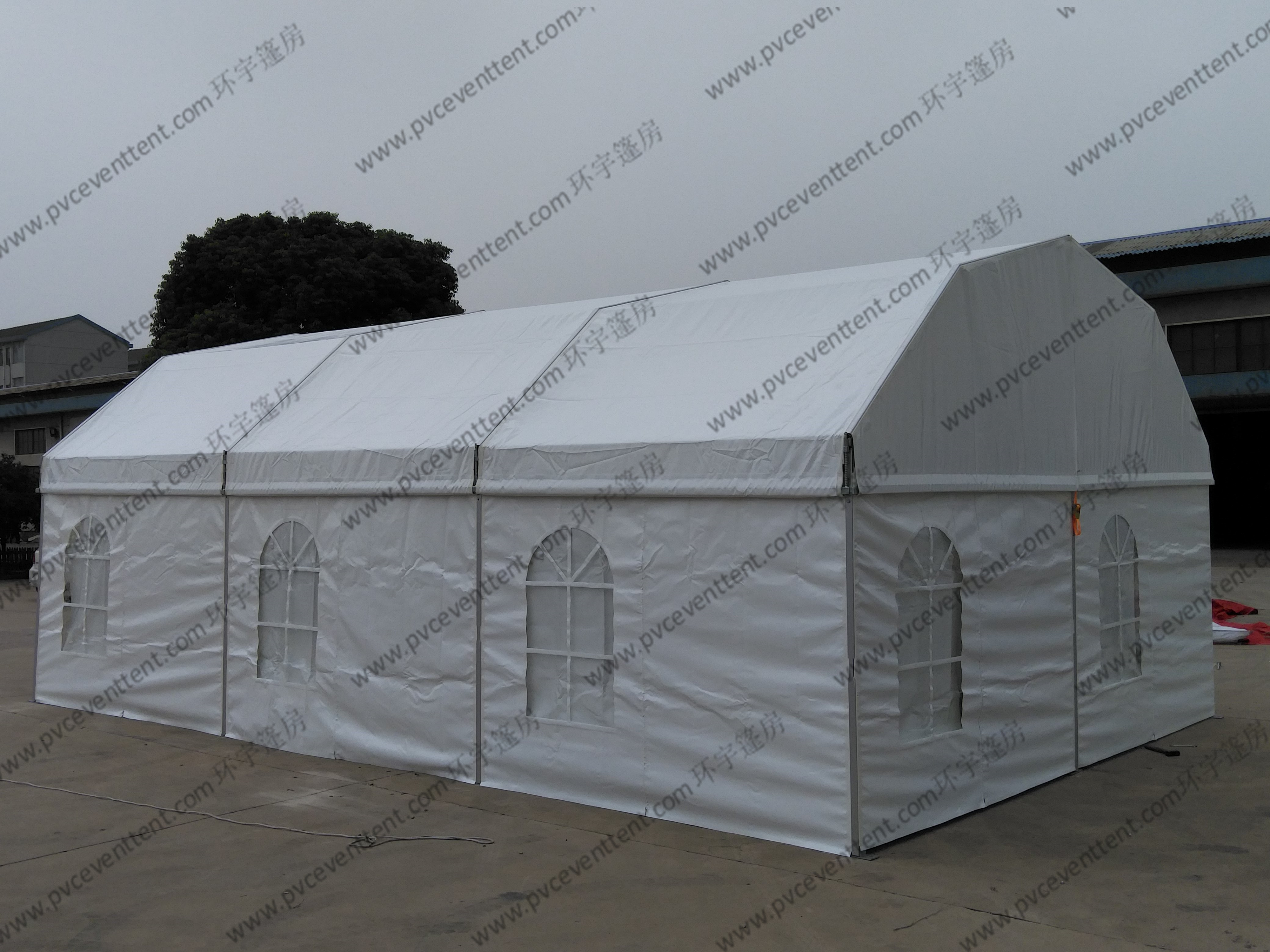 Open Sidewalls Arcuate Outdoor Event Tents Clear Top 6 x 9m Width UV Resistant