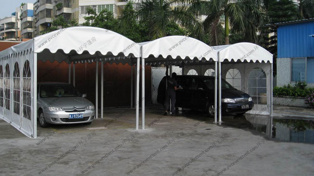 Transparent Sidewalls Custom Event Tents 3 x 6m / 6 x 6m For Car Parking