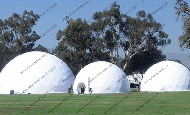Double Layers Inflatable Dome Tent Luxury Design With Diameter 5 - 50m
