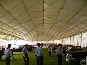 China 18m White Waterproof Outdoor Exhibition Tents For Car Show / Flowers Show distributor