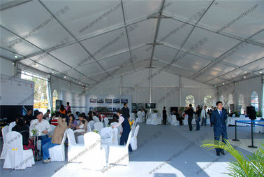 China White PVC Cover PVC Event Tent , Large 20m Clear Span Tent For Outdoor Auto Shows distributor