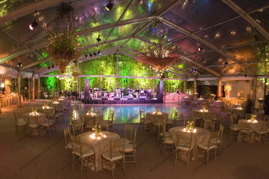 Aluminum Frame Transparent Marquee Tent , Outside Clear Party Tent Unique Decorations