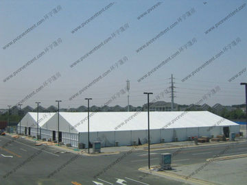 China Aluminum Frame Outdoor Warehouse Storage Tent With Sandwich / ABS Sidewalls factory