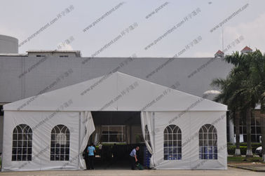 China White Color Aluminum Big Builders Warehouse Tents With Soft PVC Fabric Windows factory