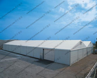 China Waterproof 15 x 50m Warehouse Storage Tent , Outdoor Warehouse Tents With Rolling Door factory
