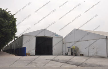 China 5m Height Warehouse Storage Tent Flame Retardance White With PVC Roof Cover factory