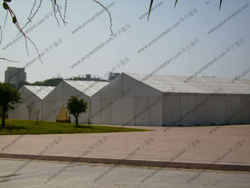 China Large Temporary Warehouse Tent 20m 30m Width Waterproof For Outside Industrial Storage factory