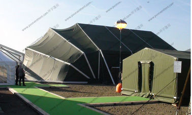 China Aluminum Frame Folding Military Army Tent Army Green PVC Mini For Outside Temporary Use factory