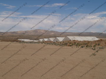 China Peach Shape Curved Tent Hard Pressed Extruded Aluminum Alloy Floor System In Desert distributor