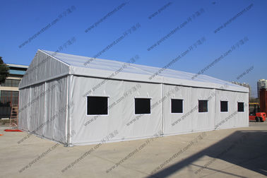 China Silver Gray Military Army Tent , PVC Canvas Army Tent For Military Outside Event factory