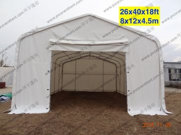 China White Waterproof PVC Canopy Tent AC System Temporary For Outside Patry / Tempporary Military Tent factory