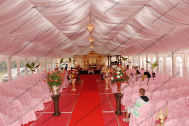 China Beautiful Decorations Outside Wedding Tents Different Styles Double PVC Coated Polyester distributor