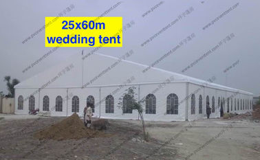 China Huge Wedding Event Tents 25 x 60m PVC Cover Fabric Church Windows Curtains Decoration factory