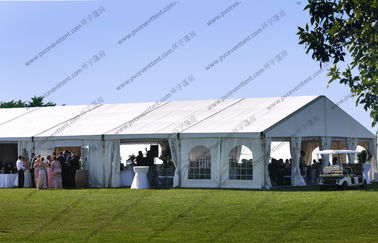 China Luxury Wedding Tent 20 x 35m , Aluminum Frame White PVC Roof Lining Decoration And Curtains Outdoor Tent Wedding distributor