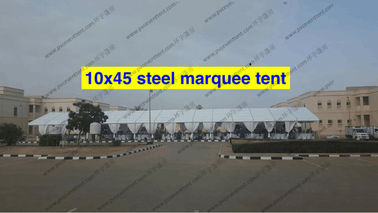 China Extravagant Outside Wedding Canopy Tent 10 x 45m With Curtain For Wedding Party factory