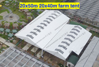 China Wind Resistant Transparent Party Tent Temporary Use Large With PVC Sidewalls distributor