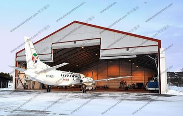 China White PVC Aircraft Hangar Tent Anti UV , Military Style Tents With Rolling Door distributor