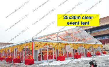 China Transparent Roof Clear Span Tent 20m x 30m Glass Walls For Wedding / Party distributor