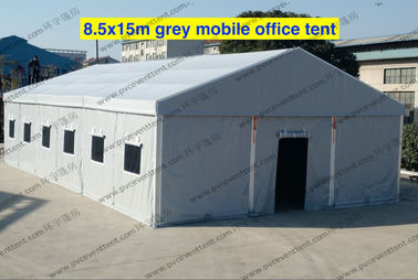 Emergency Gray PVC Military Army Tent 8.5 x 15m With Rolling Windows And Doors