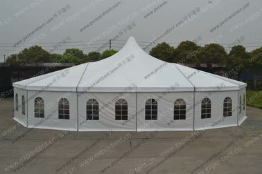 China Customized Design Aluminum PVC Cover  Windows High Peak Canopy Pagoda Tent for Parties and Outdoor Event distributor