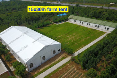China 15 x 30m Giant White PVC Event Tent , Outdoor Canopy Party Tent Camouflage Decorations distributor