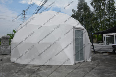 China Half Sphere Geodesic Dome Tenttent Double Coated Pvc Roof Cover For Exhibition distributor