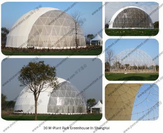 China Steel Circle Tube Outdoor Dome Tent Half Sphere Diamater 30m For Celebration distributor