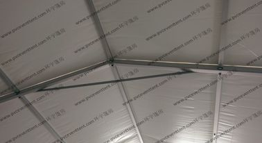 China White Color 8x15M Water Proof Military Army Tent With Pvc Screen Windows factory