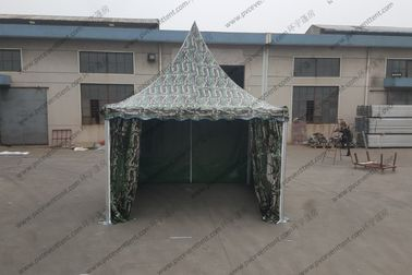 China 3x3M Aluminum Camouflage Military Army Tent With Transparent PVC Windows factory