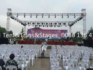 China DIY 6802-T6 / 6061-T6 Line Array Arch Aluminium Stage Truss 500-1500kg Loading distributor