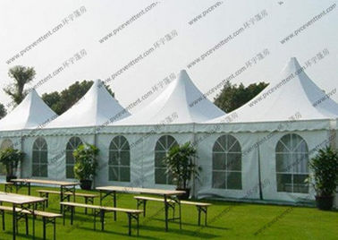 China Waterproof Pagoda Marquee High Peak Tent 3x3m 4x4m 5x5m 6x6m 8x8m 10x10m 12x12m factory