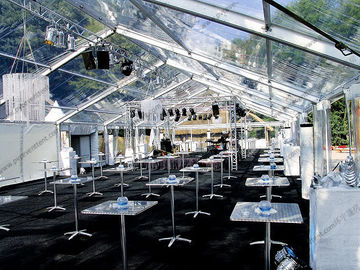 China A Shape Aluminum Frame Wedding Event Tents Church Banquet White PVC Fabric factory