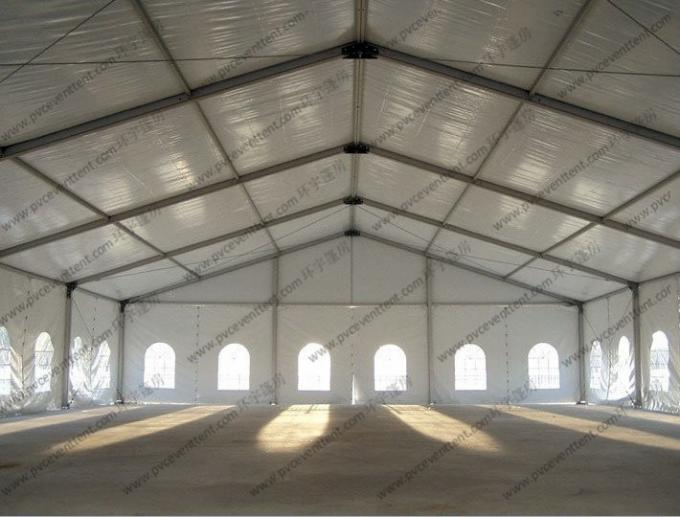 Temporary Marquee Tent 15M Clear Span with Church Windows or Decoration for Outdoor Refugee or Parties