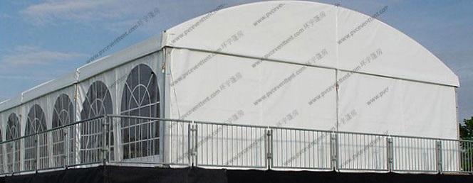 Waterproof Large Outdoor Party Tents Aluminum Frame With Church Windows