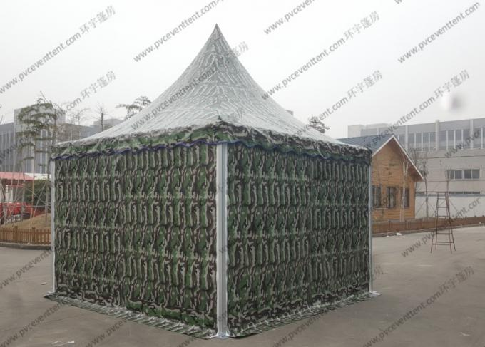 Waterproof Camouflage High Peak Canopy 3m x 3m Pagoda Type Strong For Army / Military