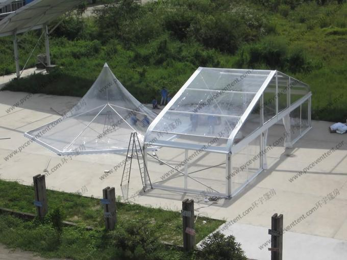 Pagoda Type Transparent Marquee Tent , All Transparent Curve Tent Strong Aluminum Frame