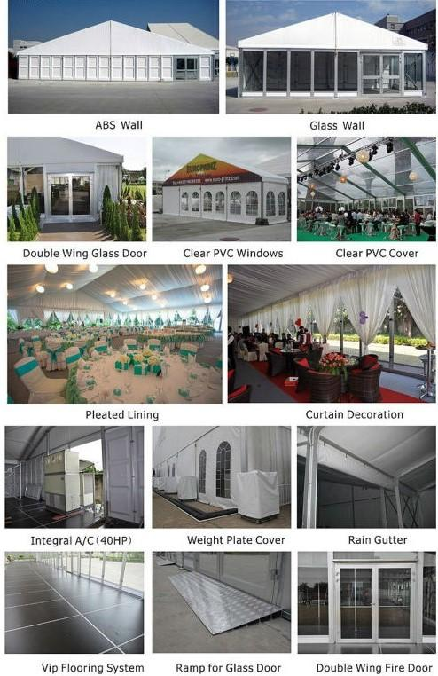 30x60m White PVC Cover Warehouse Storage Tent , Large Industrial Tents With ABS Sidewalls