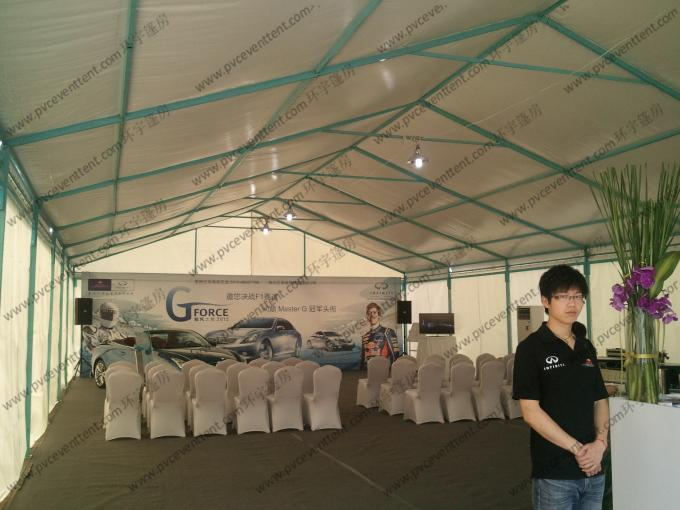 Aluminum PVC Event Tent With Customized Printed Decoration For Outside Car Trade Show
