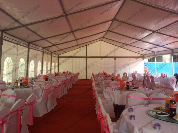 Garden Grass PVC Event Tent White Curtain ABS Hard Wall For Party Activities